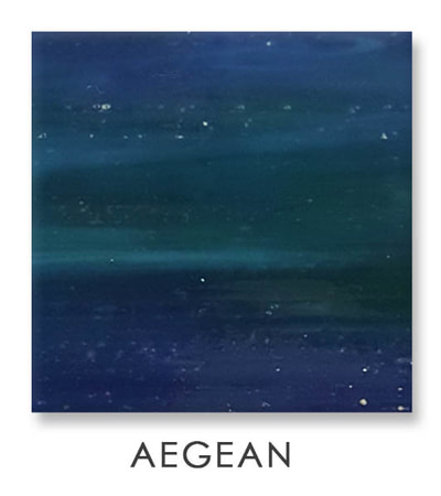 Aegean Art Glass Color, Green Color, Two Color Mix, Blue Color, Art Glass Tiles, Art Glass Mosaic Collection, Tiles