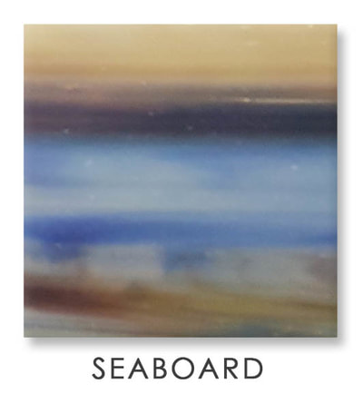 Seaboard Art Glass Color, Brown Color, Two Color Mix, Blue Color, Warm Color, Art Glass Tiles, Art Glass Mosaic Collection, Tiles