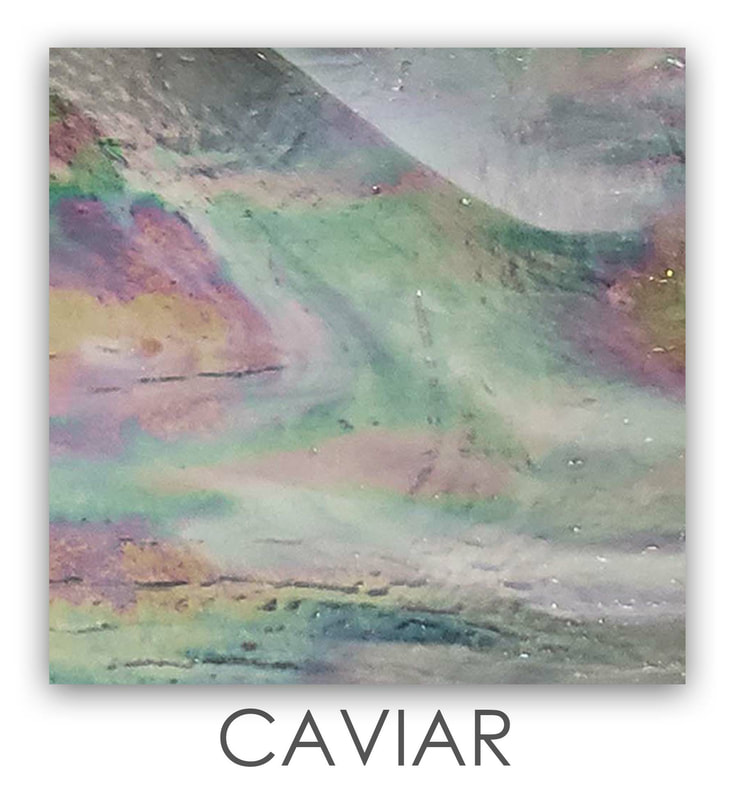 Caviar Art Glass Color, Green Color, Two Color Mix, Blue Color, Warm Color, Art Glass Tiles, Art Glass Mosaic Collection, Tiles