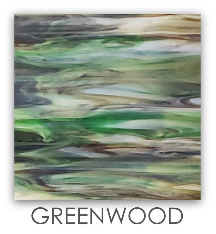 Greenwood Art Glass Color, Green Color, Two Color Mix, Blue Color, Warm Color, Art Glass Tiles, Art Glass Mosaic Collection, Tiles
