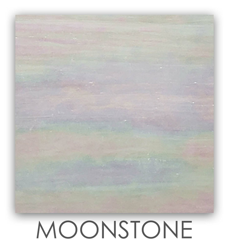 Moonstone Art Glass Color, Iridescent White, Accent Color, Art Glass Tiles, Art Glass Mosaic Collection, Tiles