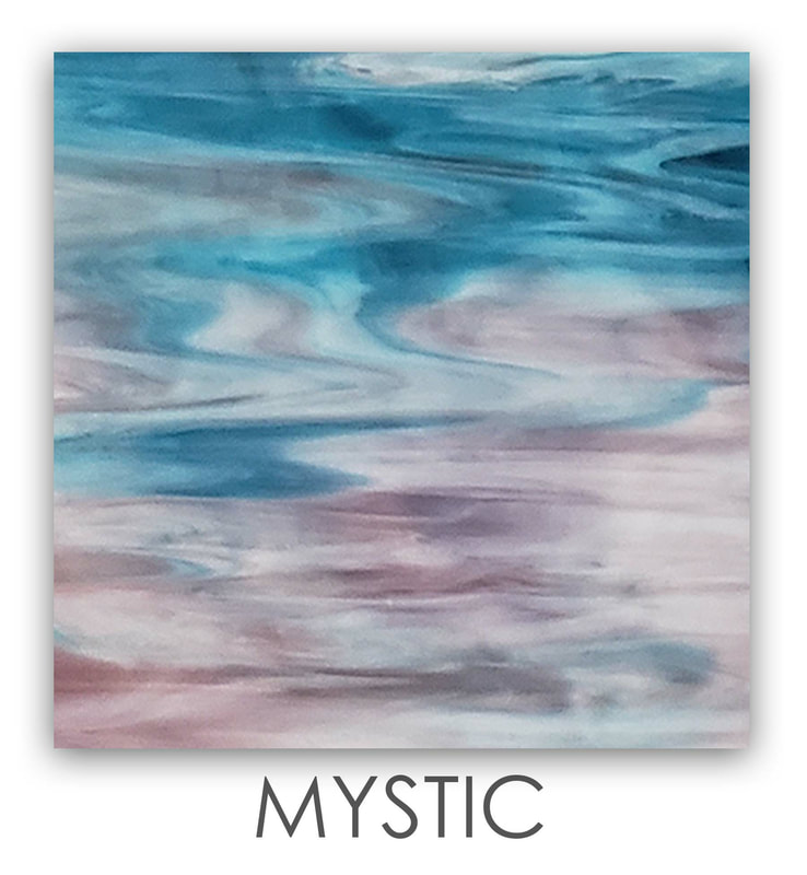 MYSTIC Art Glass Color, Green Color, Two Color Mix, Blue Color, Warm Color, Art Glass Tiles, Art Glass Mosaic Collection, Tiles