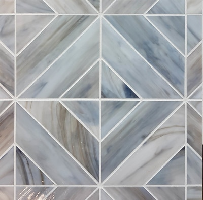 Pivot pattern in Driftwood from the Art Glass Mosaics Collection.