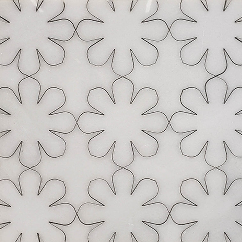 floral tile, vintage look. happy and bright tile, stone tile.