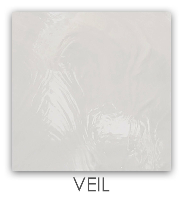 Veil Art Glass Color, Warm White Color, Semi Translucent White Color, Accent Color, Art Glass Tiles, Art Glass Mosaic Collection, Tiles